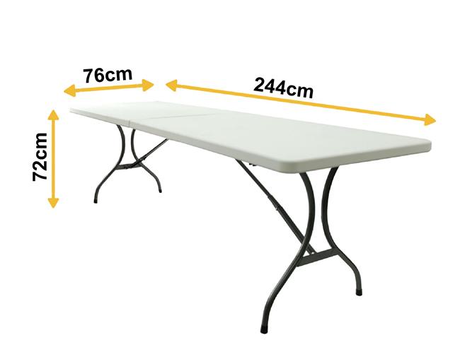 Skládací stůl 244 cm, P689