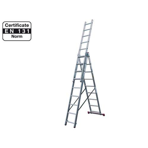 Hliníkový žebřík 3x9 příček PROFI DW309