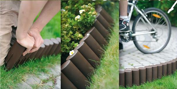 Prosperplast zahradní palisada, obrubník délka 2,7m hneda