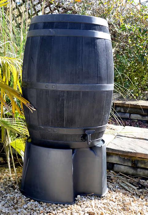 Blackwall Nádoba na destovou vodu Oak Barrel dubový sud 200L antracit