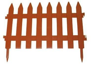 Zahradní plot GARDEN CLASSIC 3,5m x 52cm tmavě hnědá