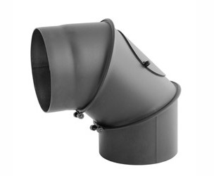 Koleno kouřové 120mm stavitelné / 0 - 90° silnostěnné 2mm