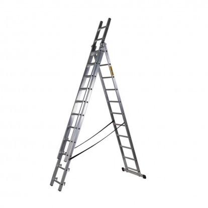 Hliníkový žebřík 3x12 příček PROFI DW312 DRABEST
