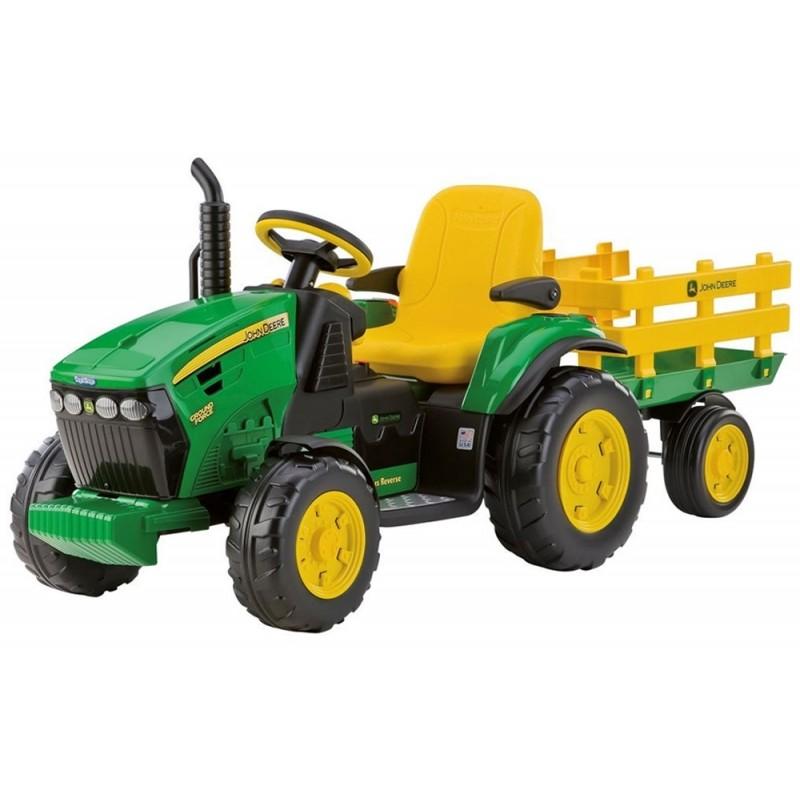 Peg-Pérego John Deere Ground Force traktor s vlečkou 12V zelená