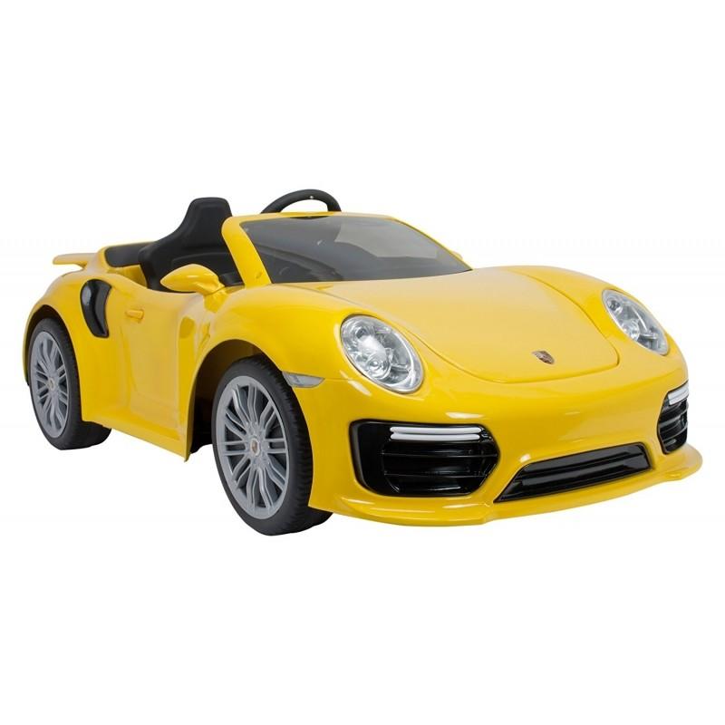 Injusa elektrický vůz Porsche 911 Turbo S Special Edition 6v žlutá