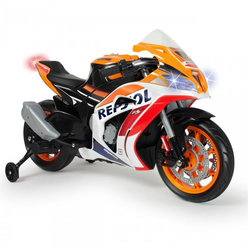 Injusa elektrická motorka Repsol 12V s MP3, svetlo