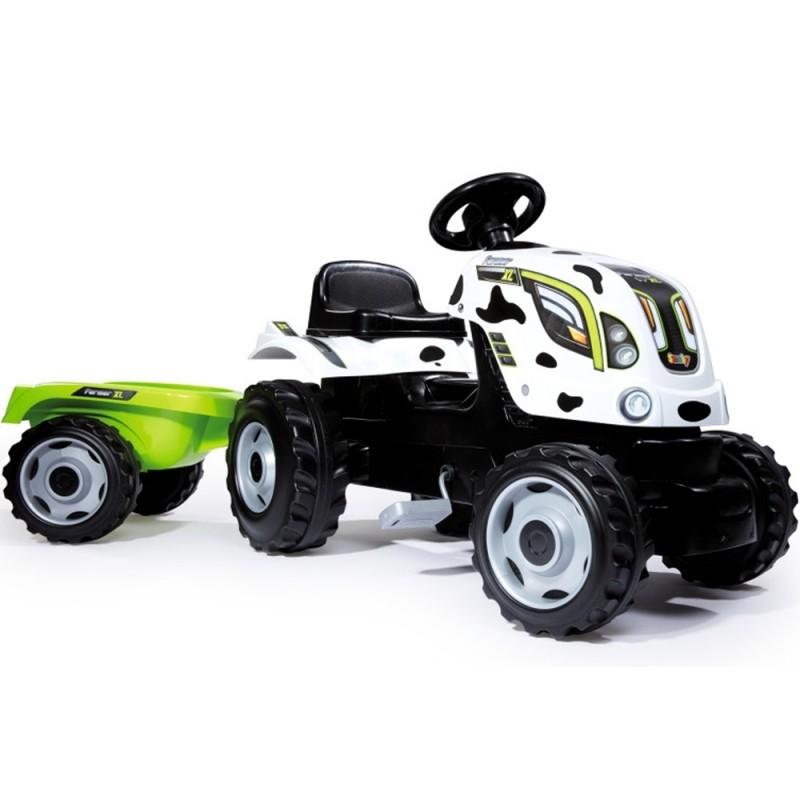 Smoby Šlapací traktor s prívesom kravička