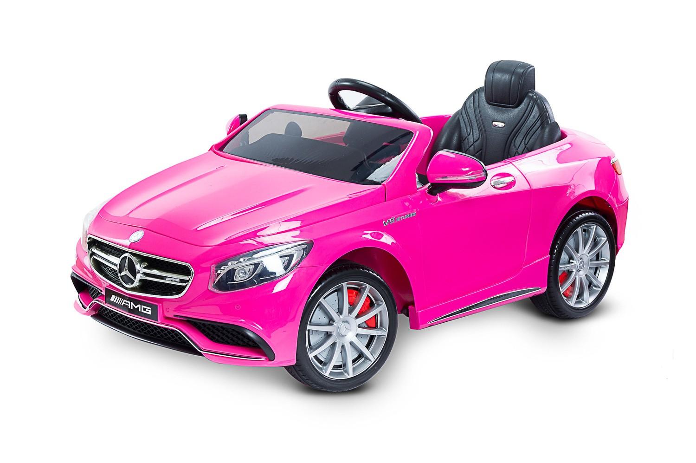 Toyz elektrické autíčko Mercedes Benz S63 AMG2 motory růžová