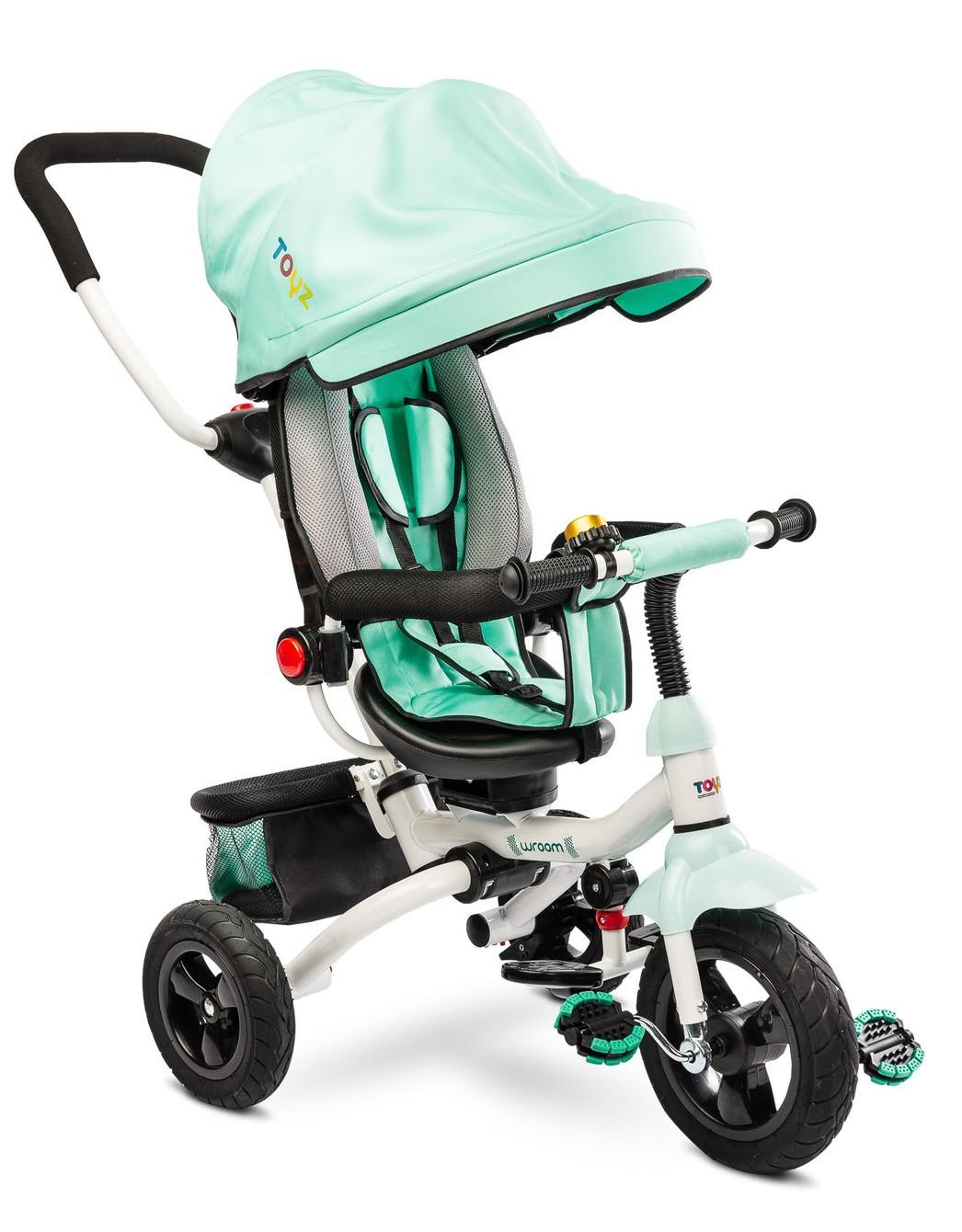 Dětská tříkolka Toyz WROOM turquoise, (barva tyrkysová)