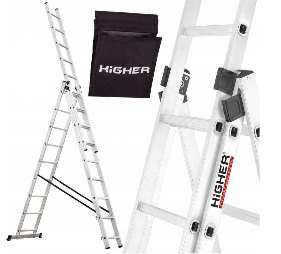 Žebřík HIGHER 3x12,3-dílný 9,35m
