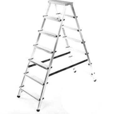 HIGHER Hliníkové oboustranné schůdky 2 x 7