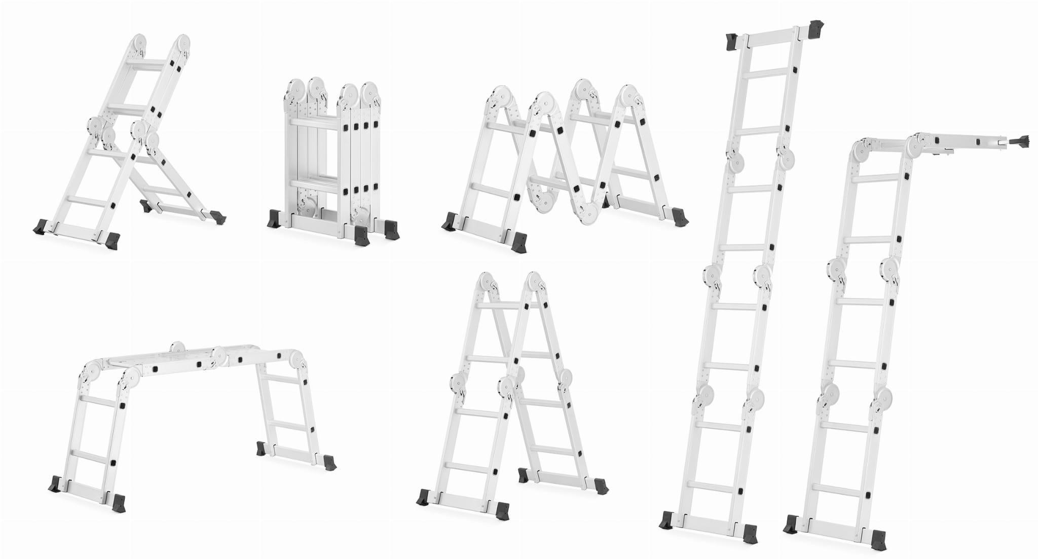 HIGHER Hliníkový multifunkční žebřík 4x2-3,5M