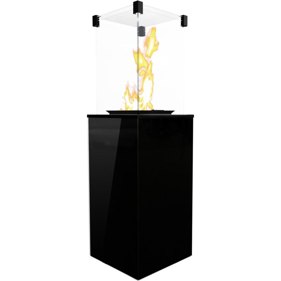 KRATKI PATIO sklo/černý plynový ohřívač - manuální