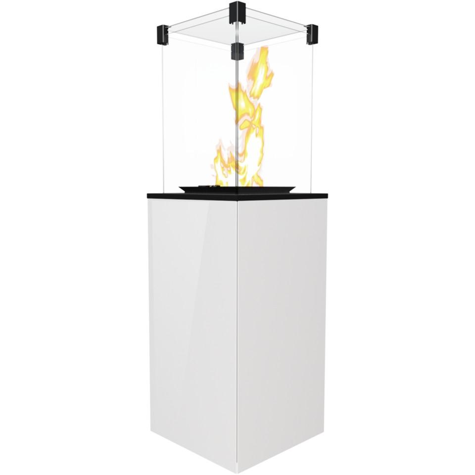 KRATKI PATIO sklo/bílý plynový ohřívač - manuální